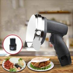 Electric Barbecue Slicing Machine Rechargeable Handheld Barbecue Slicing Knife CN Plug (Black)