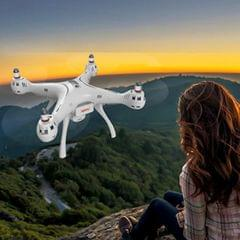 SYMA X8 Pro GPS Drone 720P FPV WiFi Camera 4-CH 2.4GHz RC Quadcopter with Remote Control & LED Light, Hovering Mode, Headless Mode (White)