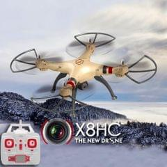 SYMA X8HC 4-Channel 2.4GHz Radio Control Quadcopter with 2.0MP HD Camera & 6-axis Gyro & LED Light (Gold)