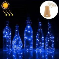1m 10 LEDs SMD 0603 Solar Powered Copper Wire String Light  Fairy Lamp Decorative Light (Blue Light)
