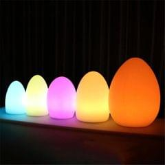 LED Outdoor Bar Table Lamp KTV Remote Control Colorful Charging Creative Decorative Egg-shaped Table Lamp, Size:15 x 21cm
