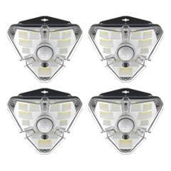 4 PCS Baseus Energy Collection Series Solar Energy Human Body Induction Wall Lamp Triangle Shape (Black)