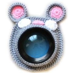 Hand-knitted Wool Camera Lens Animal Decoration Ring Baby Photo Guide Props (Mouse)