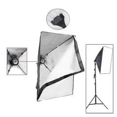 50x70cm Folding Easy Soft Box with E27 Bulb Socket, US Plug Adapter (Black)