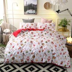 Comforter Duvet Cover Set Merry Christmas Gift Bedding Set