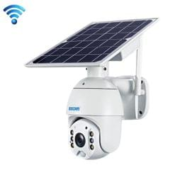 ESCAM QF280 HD 1080P IP66 Waterproof WiFi Solar Panel PT IP Camera without Battery, Support Night Vision / Motion Detection / TF Card / Two Way Audio (White)