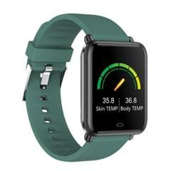 Q9T 1.3 inch TFT Color Screen Smart Watch IP67 Waterproof,Support Temperature Monitoring/Heart Rate Monitoring/Blood Pressure Monitoring/Sleep Monitoring (Green)