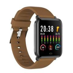 Q9T 1.3 inch TFT Color Screen Smart Watch IP67 Waterproof,Support Temperature Monitoring/Heart Rate Monitoring/Blood Pressure Monitoring/Sleep Monitoring (Coffee)