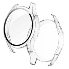 2 in 1  Tempered Glass Screen Protector + Fully Plating PC Case, Size:For Huawei Watch GT2 46mm (Transparent)