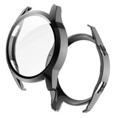 2 in 1  Tempered Glass Screen Protector + Fully Plating PC Case, Size:For Huawei Watch GT2 46mm (Black)