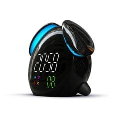 Creative Cartoon Dog Time Voice Broadcast Intelligent Induction Multifunctional Alarm Clock, Style:Weather Forecast (Black)