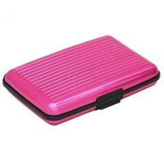 Aluminum Business Card Box Card Box Credit Card Package Anti-theft Anti-radio AL (Pink)