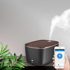 GX.Diffuser GX-22K 24W Wood Texture Intelligent Household Aromatherapy Humidifier Automatic Alcohol Sprayer with Colorful Atmosphere Lights, Support WiFi Connection & Voice / APP Control, Water Tank Capacity: 1.8L (Black)