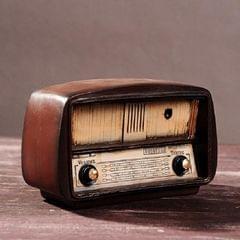 Vintage Radio TV Set Home Decoration Retro Craft Decoration, Style:Radio Brown