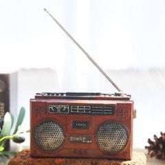 Vintage Radio TV Set Home Decoration Retro Craft Decoration, Style:Radio Red