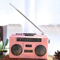 Vintage Radio TV Set Home Decoration Retro Craft Decoration, Style:Radio Pink