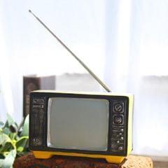 Vintage Radio TV Set Home Decoration Retro Craft Decoration, Style:TV Yellow