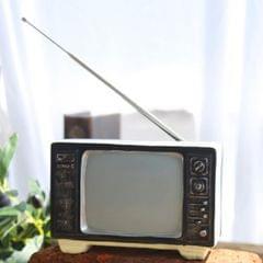 Vintage Radio TV Set Home Decoration Retro Craft Decoration, Style:TV Beige