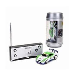 Coke Can Mini RC Car Radio Remote Control Micro Racing Car (Green+White)