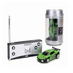 Coke Can Mini RC Car Radio Remote Control Micro Racing Car (Green)