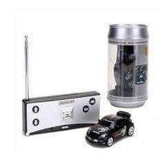 Coke Can Mini RC Car Radio Remote Control Micro Racing Car (Black)