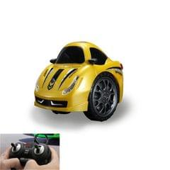 Remote Control Car Children 360 Degree Rotating Drift Dump Electric Two-wheeled Stunt Car Model Racing Toy, Proportion: Rechargeable Version (Farah Yellow)