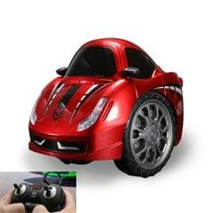 Remote Control Car Children 360 Degree Rotating Drift Dump Electric Two-wheeled Stunt Car Model Racing Toy, Proportion: Rechargeable Version (Fara Red)