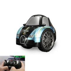Remote Control Car Children 360 Degree Rotating Drift Dump Electric Two-wheeled Stunt Car Model Racing Toy, Proportion: Rechargeable Version (Buga Blue)
