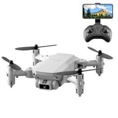 LS-MIN 4K Pixels Foldable RC Quadcopter Drone Remote Control Aircraft, Box Packaging (Grey White)