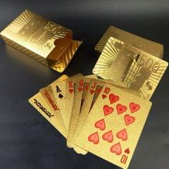 Creative Frosted Golden Tattice Back Texture Plastic From Vegas to Macau Playing Cards Texas Poker Novelty Collection Gift (Style3)