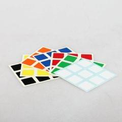 3 PCS 57mm Third-order Cube Smooth Gloss Sticker Random Color