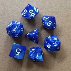 5 Set Creative RPG Game Dice Colorful Multicolor Dice Mixed DND Dice (Blue)