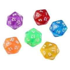 50 PCS Polyhedron Outdoor Bar Family Party Game Dice Board Game Accessories (Random Color Dlivery)