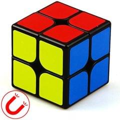 Moyu Mr. M Series Magnetic Cube Twisty Puzzle Toy Two Layers Cube Puzzle Toys (Black)