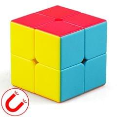 Moyu Mr. M Series Magnetic Cube Twisty Puzzle Toy Two Layers Cube Puzzle Toys (Colour)