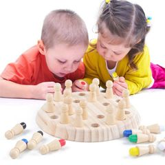 Wooden Children Early Education Memory Chess Concentration Memory Training Educational Toy