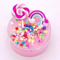 DIY Rainbow Lollipop Poking Puzzle Unzipping Q Bomb Plasticine (Pink)