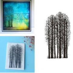Creative Retro Hand Account Transparent Seal DIY Student Manual Decoration Material, Style:Forest