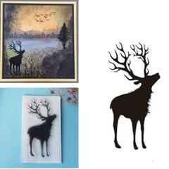 Creative Retro Hand Account Transparent Seal DIY Student Manual Decoration Material, Style:Deer