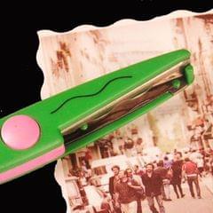 6 PCS Lace Scissors DIY Photos Color Plastic Scissors Paper Diary Decoration (Big wave)