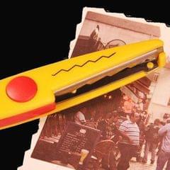 6 PCS Lace Scissors DIY Photos Color Plastic Scissors Paper Diary Decoration (Large sawtooth)
