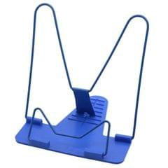 Portable Foldable Adjustable Bookend Stand Reading Book Stand Document Holder Base (Blue)