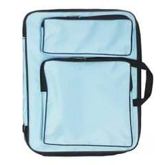 Children 8K Fashion Cute Double Shoulders Canvas Waterproof Drawing Bag (Blue)