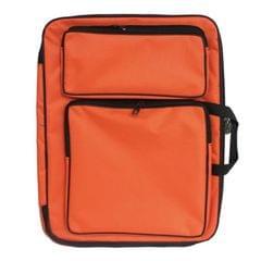 Children 8K Fashion Cute Double Shoulders Canvas Waterproof Drawing Bag (Orange)
