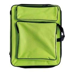 Children 8K Fashion Cute Double Shoulders Canvas Waterproof Drawing Bag (Green)