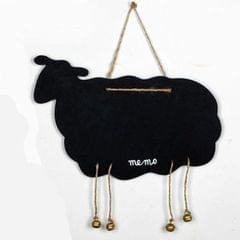 Double-Sided Hanging Wooden Creative Message Small Blackboard Home Decoration Wood Crafts (Sheep )