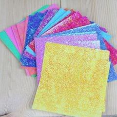 150 PCS Square Single-sided Flash Folding Paper Children's Handmade DIY Scrapbooking Craft Decoration, Size:10�10 cm