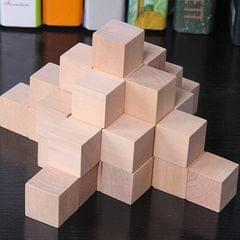 100 PCS / Set Wood Color  Elementary School Mathematics Teaching Aid Cube Cube Mold Stereo Recognition Graphics Tool, Size:2cm
