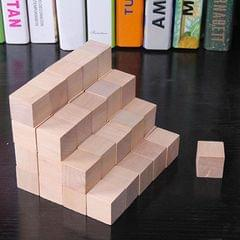 100 PCS / Set Wood Color  Elementary School Mathematics Teaching Aid Cube Cube Mold Stereo Recognition Graphics Tool, Size:1.5cm