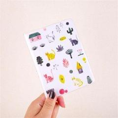 PVC Notepad Color Inner Page Week Plan A6 Pocket Hand Ledger (Cat House)